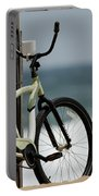 Bicycle On The Beach Portable Battery Charger by Julie Niemela