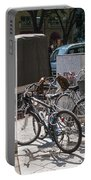 Bicycle Parking And Smoking Station In Tokyo Japan Portable Battery Charger