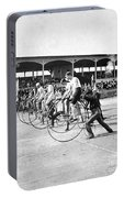 Bicycle Race, 1890 Portable Battery Charger