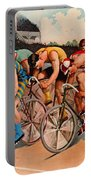 Bicycle Race 1895 Portable Battery Charger