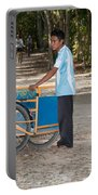 Bicycle Taxi Inside The Coba Ruins  Portable Battery Charger