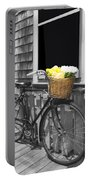 Bicycle With Flower Basket Portable Battery Charger