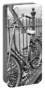 Bicycles Parked At Fence On Street, Netherlands Portable Battery Charger