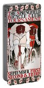 Bicycling Poster, 1896 Portable Battery Charger