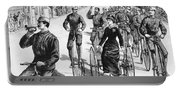 Bicyclist Meeting, 1884 Portable Battery Charger