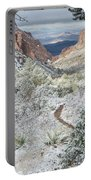 Big Bend Window With Snow Portable Battery Charger