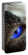 Big Blue Eyes Cat Portable Battery Charger