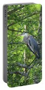 Big Blue In Green Tree Portable Battery Charger