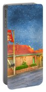 Big Bunny Motel Portable Battery Charger by Juli Scalzi
