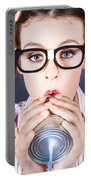 Big Business Kid Making Phone Call With Tin Cans Portable Battery Charger