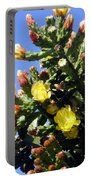 Big Cactus, Yellow Flowers Portable Battery Charger