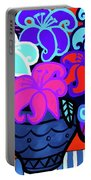Big Colorful Lillies 2 Portable Battery Charger