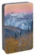 Big Cottonwood Canyon Wasatch Sunrise Portable Battery Charger