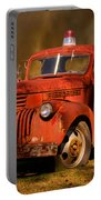 Big Fire - Old Fire Truck Portable Battery Charger