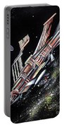 Big, Old Space Shuttle Of Dead Civilization Portable Battery Charger