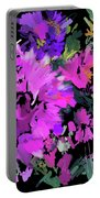 Big Pink Flower Portable Battery Charger