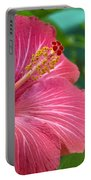 Big Pink Hibiscus Portable Battery Charger