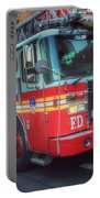 Big Red Engine 24 - Fdny - Firefighters Of New York Portable Battery Charger