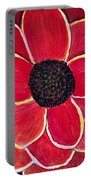 Big Red Zinnia Flower Portable Battery Charger