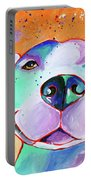 Big Smile - Dog Art By Valentina Miletic Portable Battery Charger