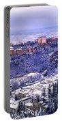 Big Snow In The Alhambra Granada  Portable Battery Charger