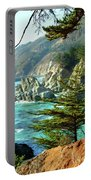 Big Sur Vista Portable Battery Charger by Charlene Mitchell
