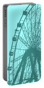 Big Wheel Cyan Portable Battery Charger