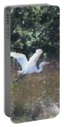 Big White Bird Flying Away Portable Battery Charger