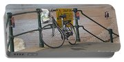 Bike Against Railings Portable Battery Charger