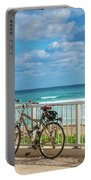Bike Break At The Beach Portable Battery Charger