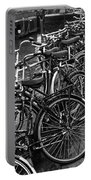 Bike Parking -- Amsterdam In November Bw Portable Battery Charger