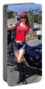 Biker Girl. Model Sofia Metal Queen Portable Battery Charger