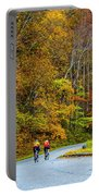 Biking On The Parkway Portable Battery Charger
