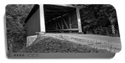 Billie Creek Covered Bridge Black And White Portable Battery Charger