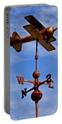Biplane Weather Vane Portable Battery Charger