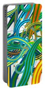Bipolar Mania Rollercoaster Abstract Portable Battery Charger
