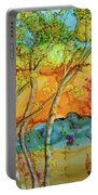 Birch And Liquid Amber Portable Battery Charger