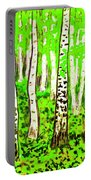 Birch Forest, Painting Portable Battery Charger