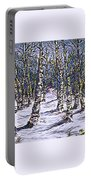 Birch Tree Mosaic 2 Portable Battery Charger