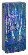 Birch Trees 3 Portable Battery Charger