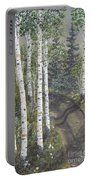 Birch Trees Along Kennys Road  2 Portable Battery Charger