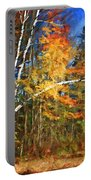 Birch Trees - Autumn Portable Battery Charger