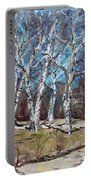 Birch Trees Next Door Portable Battery Charger