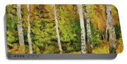 Birches And Spruces Portable Battery Charger