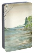 Birches By The Lake Portable Battery Charger