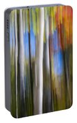 Birches In Autumn Forest Portable Battery Charger