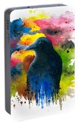Bird 71 Crow Raven Portable Battery Charger
