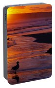 Bird At Sunset Portable Battery Charger