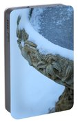 Bird Bath In The Snow Portable Battery Charger