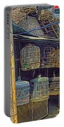 Bird Cages Vintage Photo Indonesia Portable Battery Charger